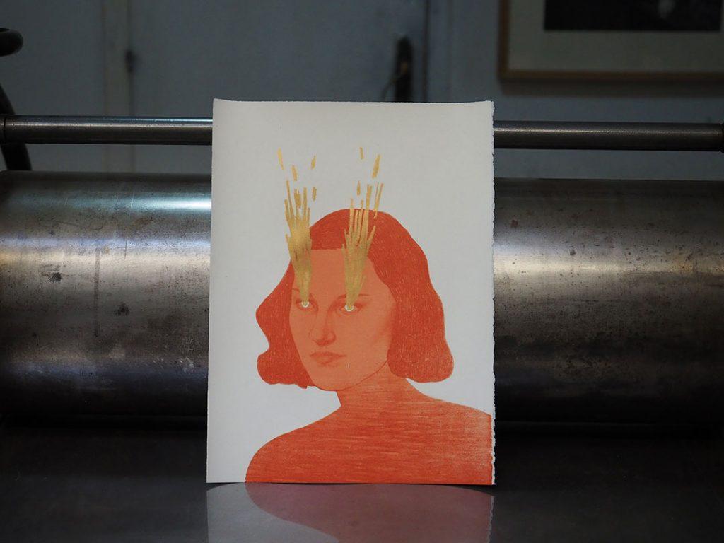 "Martina Tarabal - ""Mal rayo te parta"" (litografia)"
