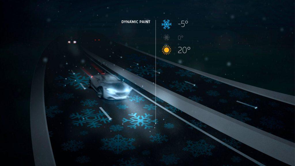 Smart highway dynamic paint by Studio Roosegaarde